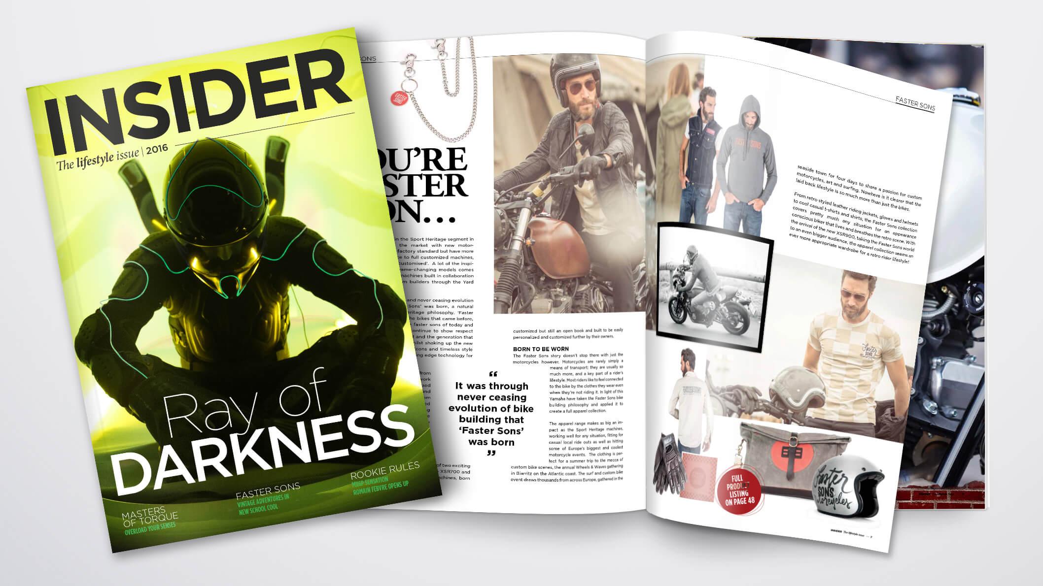 Insider Lifestyle Magazine 2016 Faster Sons